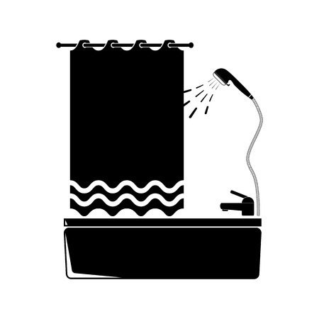 hot tub: Bathroom vector Icon. Flat style for web and mobile.