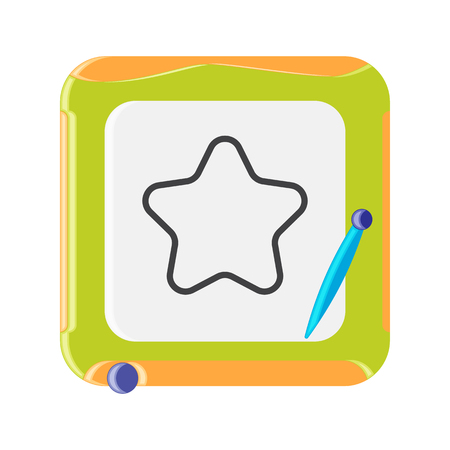 magnetic: Magnetic Whiteboard. Vector Illustration. Flat style.