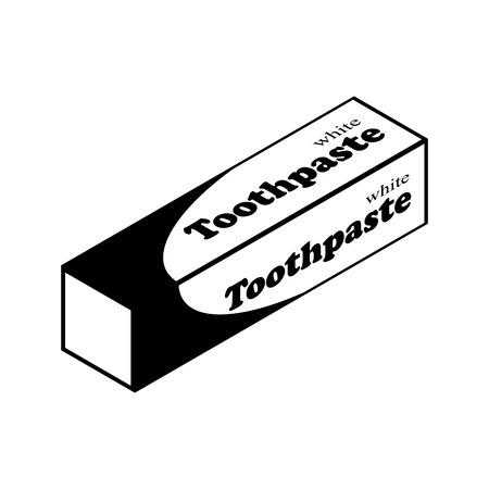 toothpaste tube: Toothpaste tube vector icon for web and mobile. Flat style Illustration