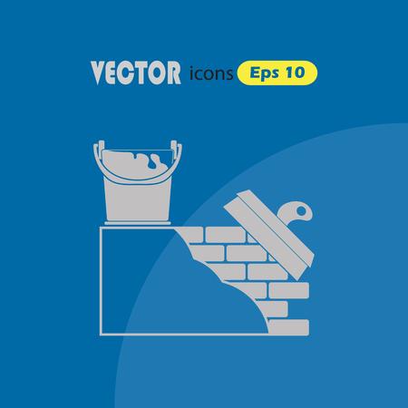 stucco: Stucco wall vector icon