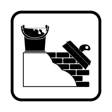 stucco wall: Stucco wall vector icon