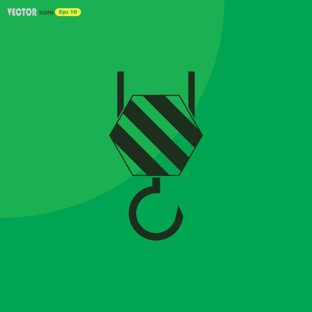 polea: Icono del vector del gancho industrial Vectores