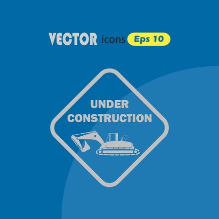 in the reconstruction: Vector icon under construction,
