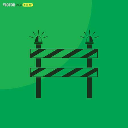 roadblock: Construction Roadblock vector icon