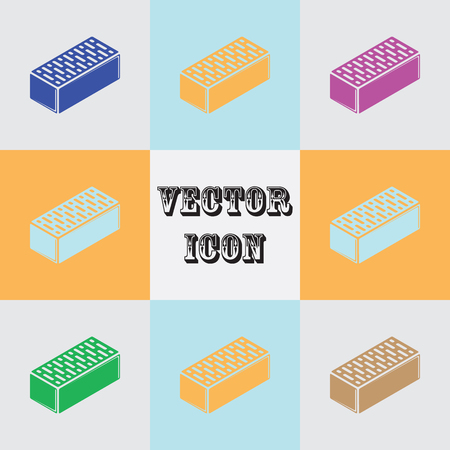 Brick vector icon for web and mobile Stock Illustratie