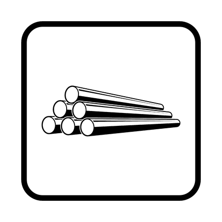 Pipe vector icon for web and mobile Vector Illustration