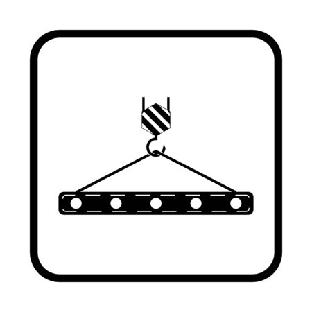 Pictograph of crane hook. Vector icon