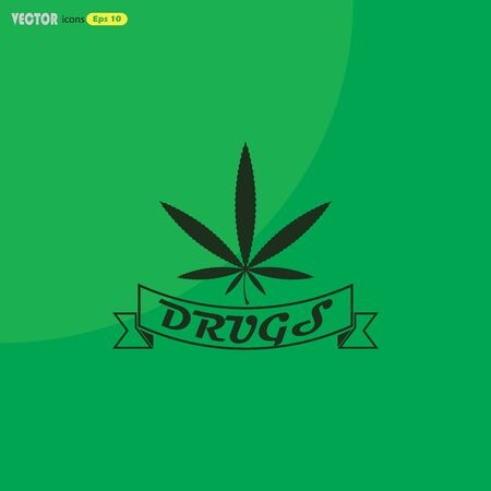 legalize: marijuana leaf vector icon