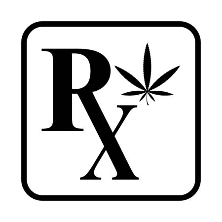 Medicinal Marijuana vector icon Illustration