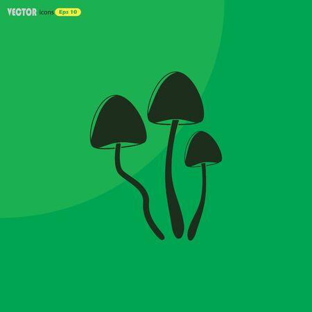 Psilocybin mushrooms simple vector icon Illustration