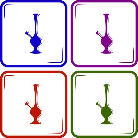 bong: Bong Of Marijuana vector icon