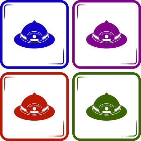 fireman helmet, vector illustration
