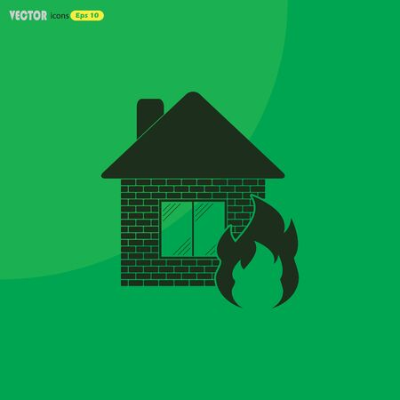 home fire icon vector Illustration