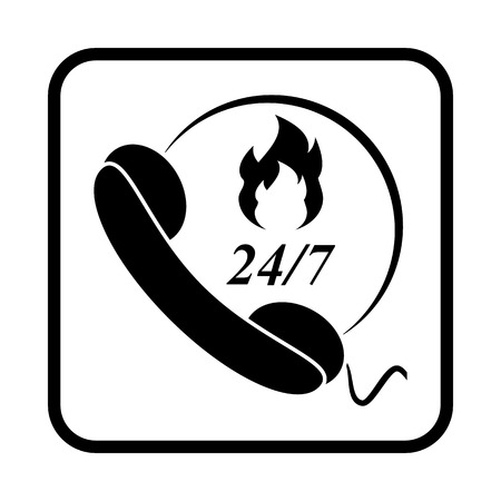 Fire emergency vector icon