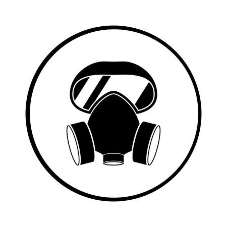 respirador de iconos de vectores para la web y para móviles