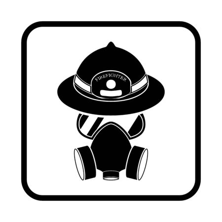 respirator: respirator and helmet vector icon for web and mobile
