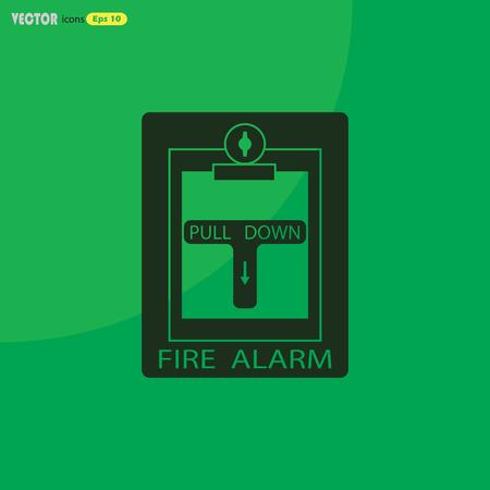 safe and sound: Fire alarm icon Illustration