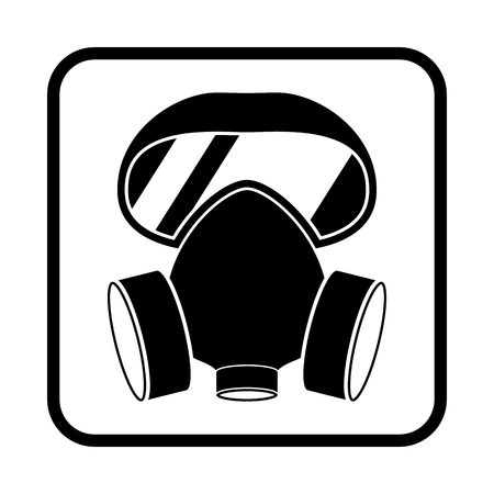 respirator vector icon for web and mobile Illustration