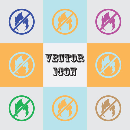 burnable: no fire vector Icon.