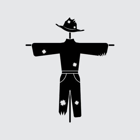 Scarecrow vector silhouette. Simple icon Illusztráció