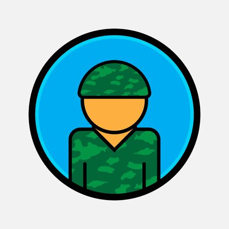 Soldier vector icon. illustration for web and mobile design. Flat style.