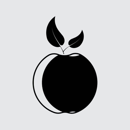 apple vector silhouette simple icon