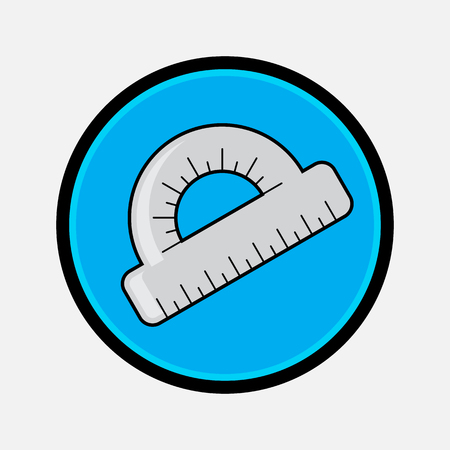 protractor: Protractor vector Icon flat style for web and mobile