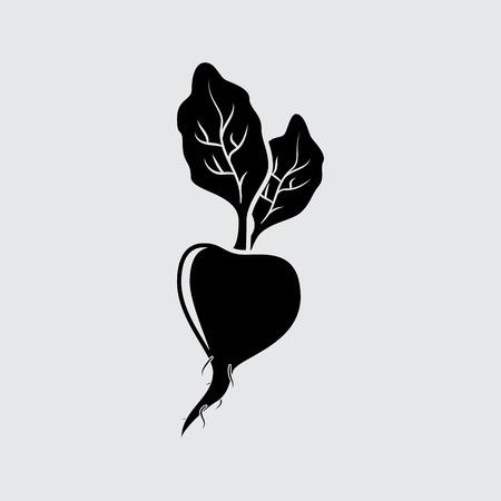 Beet vector symbol. Simple icon