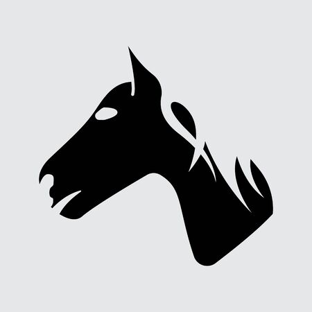 Horse vector Silhouette simple icon