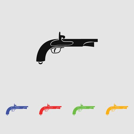 The vector image of an ancient pistol