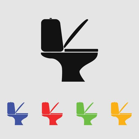 Toilet vector icon for web and mobile. Flat style. Illustration