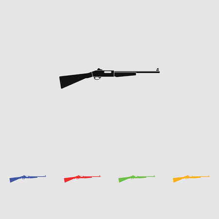 vintage rifle: Vintage rifle vector isolated on white background. Black simple icon. Flat style for web and mobile.