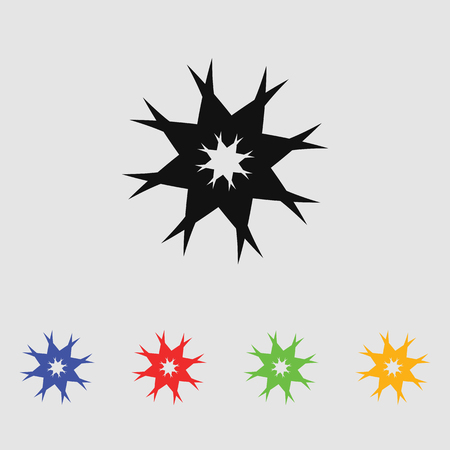 Abstract flowers. Vector black simple icon for web and mobile. Flat style.