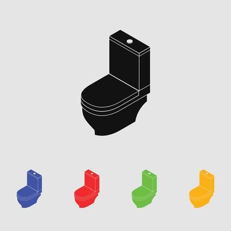 bidet: Toilet vector icon for web and mobile. Flat style. Illustration