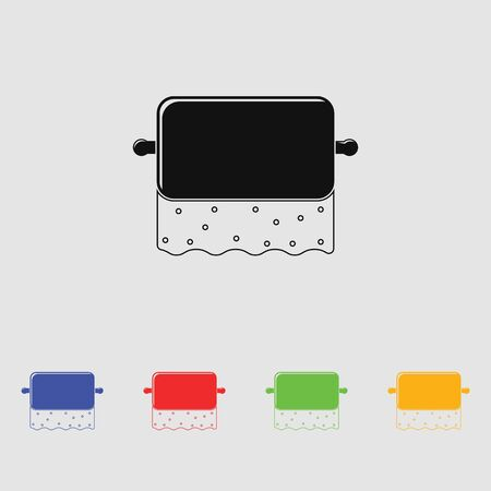 fecal: Toilet Paper vector Icon for web and mobile. Flat style.
