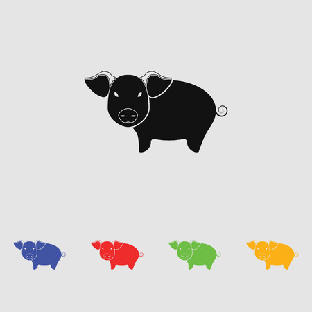 Pig icon Vector. silhouette Illustration