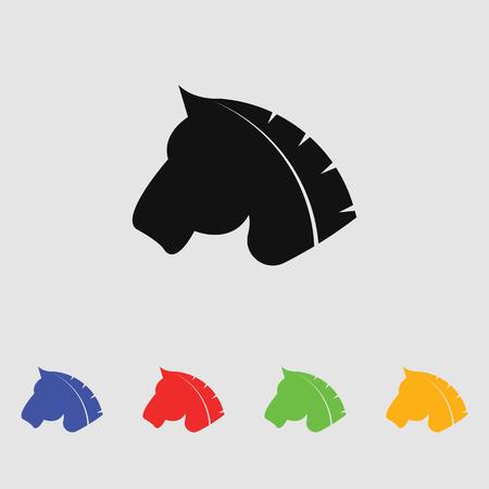 gallop: Horse vector Silhouette simple icon
