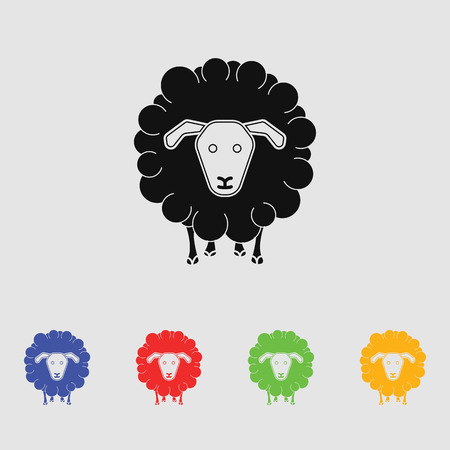 Sheep vector silhouette Simple icon