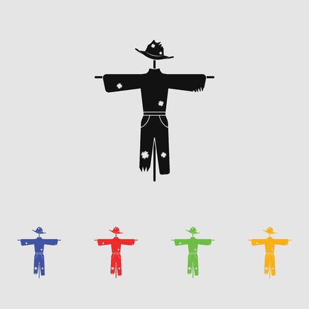 scarecrow: Scarecrow vector silhouette. Simple icon Illustration
