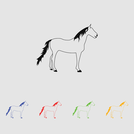agronomy: Horse vector silhouette Simple icon