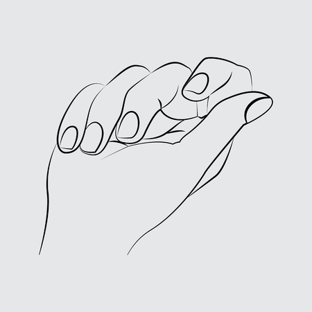 Manicured nails. line vector icon. Flat style for web and mobile