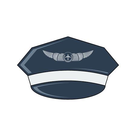 b57f4a4e9e58d0  63746439 - Pilotenmuts vector pictogram. Vlakke stijl. Cartoon stijl.  Militair symbool voor web en mobiel.