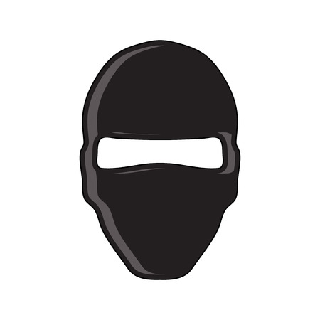 hostage: Balaclava terrorist military mask simple icon. Flat style. Cartoon style. Military symbol for web and mobile.