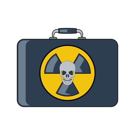 uranium: Radiation bag icon.Flat style. Cartoon style. Military symbol for web and mobile.