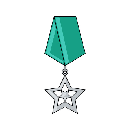 Army Award Vector Icon Flat Style Cartoon Style Military Symbol