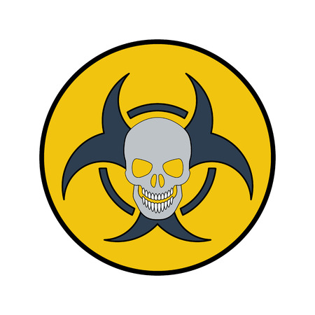 The radiation icon. Flat style. Cartoon style. Military symbol for web and mobile.
