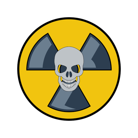 irradiation: The radiation icon. Flat style. Cartoon style. Military symbol for web and mobile.