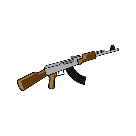 weapon vector icon. Flat style. Cartoon style. Military symbol for web and mobile.