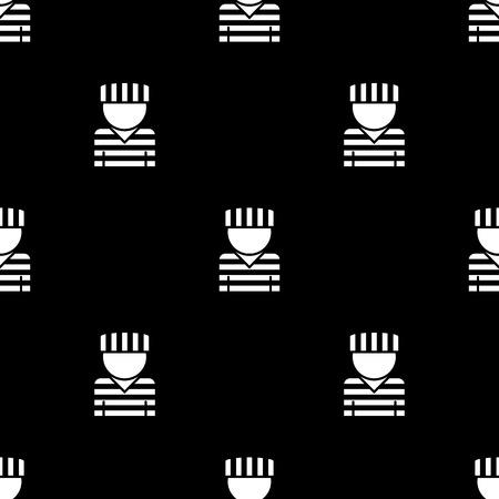 jailhouse: prisoner vector icon flat style