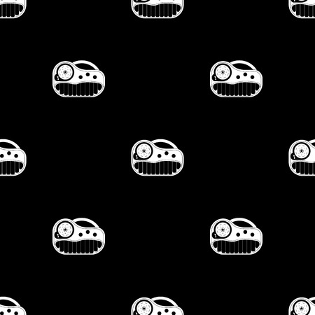 synthesizer: Synthesizer toy icon. Flat style. Vector illustration.